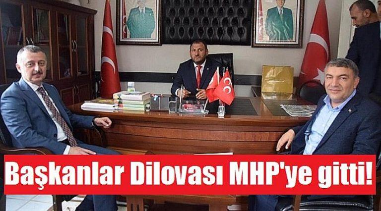 Başkanlar Büyükakın ve Şayir, Dilovası MHP'ye gitti