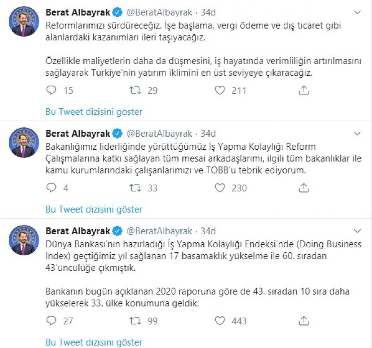 Türkiye İş Yapma Kolaylığı'nda 10 sıra daha yükseldi