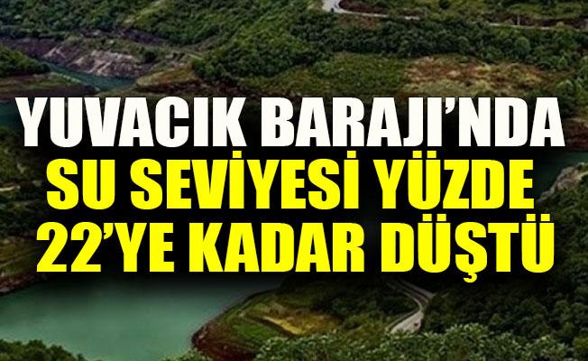 Yuvacık Barajı'nda su seviyesi yüzde 22'ye kadar düştü