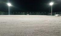 Kullar futbol sahasının aydınlatması tamam