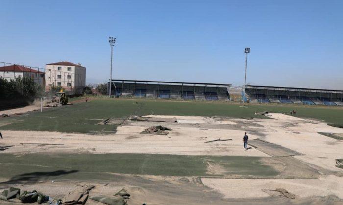 Dilovası'nda Şehit Nihat Karataş stadı yenileniyor